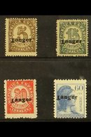 """TANGIER 1939 Tangier Overprinted 5c, 15c, 30c & 60c(SG 89,91, 94 & 98) Bearing Varieties, """"INVERTED T"""" Presented On A S - Spain"""
