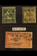 1920 Airmail Set Complete, SG 57/9, Very Fine Used. 10p On 40c With Royal Certificate. For More Images, Please Visit Htt - Syria
