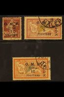 1921 Airmail Set On OMF Issue Complete, SG 86/88, Very Fine Used. (3 Stamps\) For More Images, Please Visit Http://www.s - Syria