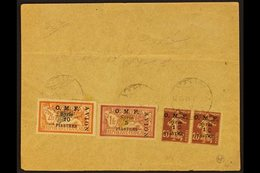 1921 Airmail Set Complete On Flown Cover Halep To Damas, SG 86/9, Cover Fold But Stamps Very Fine. For More Images, Plea - Syria