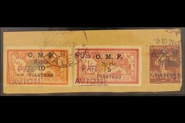 1921 Airpost Set Complete, SG 78/80, Fine Used On Piece With Halep 5-10-21 Cancels. Royal Certificate. For More Images,  - Syria