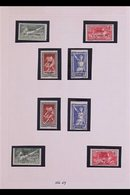 SPORT - OLYMPIC GAMES 1924-1972 Collection On Pages. With 1924 Both Overprinted Olympic Games Sets Fine Mint; 1960-1972  - Syria