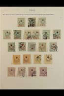 1915 - 1916 STAR AND CRESCENT OVERPRINTS Fine Mint And Used Collection Written Up On Pages With An Attractive Range Of 1 - Unclassified