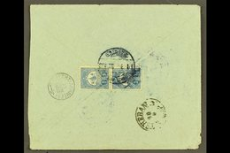 """USED IN IRAQ 1908 Cover Addressed In Arabic To Persia, Bearing On Reverse 1908 1pi Pair Tied By Bilingual """"NEDJEF ECHREF - Unclassified"""