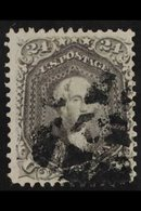 1862-66 24c Grey Lilac Washington (SG 74a, Scott 78a) Fine Used With Segmented Cork Cancel, Very Good Colour. For More I - United States