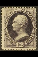 1873 12c Blackish Violet Henry Clay (Scott 162, SG 164), Mint Regummed, Corner Crease, Centred To Upper Right, Cat £2,50 - United States