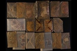 1890s-1920s USED HOARD Large Quantity Of Old, Crunchy, Glassine Packets Full Of Old Stamps From 1890s-1920s, Mostly Defi - United States