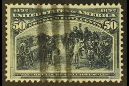 1893 50c Greenish-slate Columbian, SG 245, Scott 240, Neat Barred Cancel. For More Images, Please Visit Http://www.sanda - United States