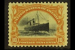 1901 10c Yellow Brown And Black Ocean Liner, Sc 299, Very Fine NHM. For More Images, Please Visit Http://www.sandafayre. - United States