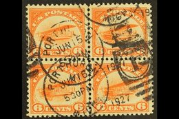 """1918 AIR 6c Orange """"Curtiss Jenny"""", Sc C1, Fine Used CENTRE LINE BLOCK OF FOUR For More Images, Please Visit Http://www. - United States"""