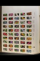 SHEETLETS & SE-TENANT STRIPS 1970s-1990s Never Hinged Mint Collection In An Album, Includes 1976 Flags Sheetlet, 1981 Bi - United States