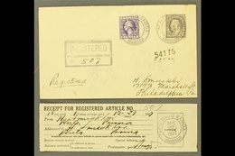 AMERICAN SAMOA 1927 (Dec 27) Registered Cover Franked With 3c Washington & 15c Franklin, Postmarked Pago Pago, Addressed - United States