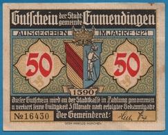 EMMENDINGEN 50 PFENNIG 1921 ALT EMMENDINGEN  No 16430 - [11] Emissions Locales