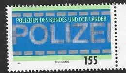 GERMANY, 2019, MNH, POLICE, FEDERAL AND STATE POLICE,1v - Police - Gendarmerie