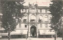 64 Pau Hotel De Ville Et Grand Theatre Café Du Theatre Banque Agence Credit Lyonnais - Pau