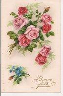 L60A133 - Bonne Fête - Branches De Roses - Photochrom N°80 - Holidays & Celebrations