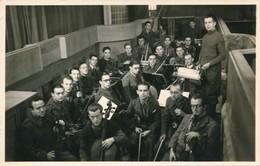 Photo-carte Stalag VIII C Orchestre Fol's Sag's Sagan Felix Gachet WWII Guerre - Guerre, Militaire
