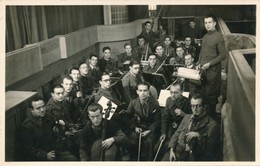 Photo-carte Stalag VIII C Orchestre Fol's Sag's Sagan Felix Gachet WWII Guerre - War, Military