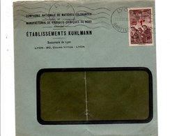 N° 489 SEUL SUR LETTRE A EN TETE DE LYON 1941 - Marcophilie (Lettres)