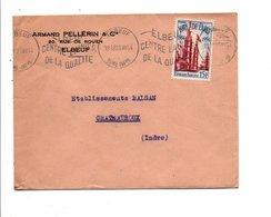 N° 975 SEUL SUR LETTRE DE ELBEUF 1954 - Marcophilie (Lettres)