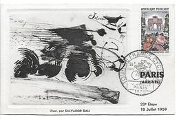 Tour De France Cycliste 1959 . Illustrée Par Salvador DALI - 22e Etape 18 Juillet 1959 - Cycling