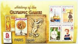 St. Kitts 2008**Mi.1011-14 Summer Olympics, Beijing , MNH  [4;11] - Summer 1900: Paris