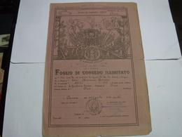 CONGEDO MILITARE  II GUERRA   ---  4° REGGIMENTO FANTERIA CARRISTA - Documents