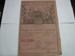 CONGEDO MILITARE  II GUERRA   ---  3° REGGIMENTO FANTERIA CARRISTA - Documents