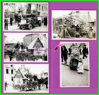 61 Orne ARGENTAN Reproduction 5 Photo Papier - Fête Du Travail 1945 - Défilé Char Dans Les Rue D'Argentan - Reproducciones