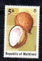 APR2169 - MALDIVE 1975 ,  Yvert N. 532  ***  MNH  (2380A) . Cocco Cocos - Maldive (1965-...)