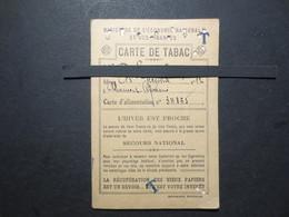 63 - Clermont - Ferrand - Carte De Tabac - Bon De Solidarité 5 Francs - Tabac J. Nicolas 25  Bld , Lafayette - 1942 - - Documents
