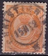 Norway 1882-1885 POSTFRIM 3 Ore Orange Michel 35 - Noorwegen