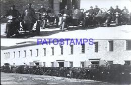 117753 REAL PHOTO MOTOTCYCLE MOTO WITH SIDECAR AND MAN'S POSTAL POSTCARD - Motorräder