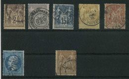 Francia, Lotto Francobolli Usati Buon Valore Di Catalogo - 1876-1878 Sage (Tipo I)