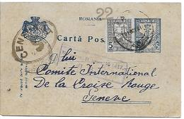 ROUMANIE - Entier Postal + Timbre + Tampon Censure - Romania