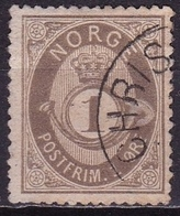 Norway 1890 POSTFRIM 1 Ore Darkolive Michel 49 - Noorwegen