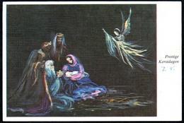 C7048 - Glückwunschkarte Weihnachten - Krippe Weihnachtskrippe Künstlerkarte - Natale