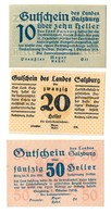 Austria Notgeld Lot / Set - SALZBURG LAND X 3 - Oesterreich