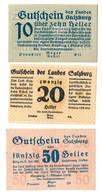 Austria Notgeld Lot / Set - SALZBURG LAND X 3 - Austria
