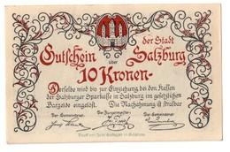 Austria Notgeld - SALZBURG STADT 10 Kronen 1920 - Oesterreich