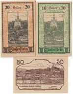 Austria Notgeld Lot / Set - SAUSENSTEIN X 3 - Oostenrijk