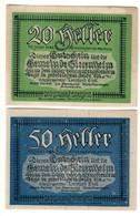 Austria Notgeld Lot / Set - SIEZENHEIM X 2 - Oesterreich