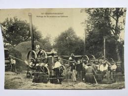 Le Grand Fougeray Battage De La Moisson Au Château - Altri Comuni