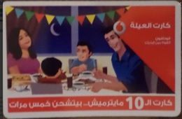 EGYPT - Family Card 10 Pounds  Vodafone , [used] (Egypte) (Egitto) (Ägypten) (Egipto) (Egypten) - Egipto