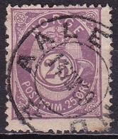 Norway 1893 POSTFRIM 25Ore Violet 14½ : 13½ Michel 58 A - Noorwegen