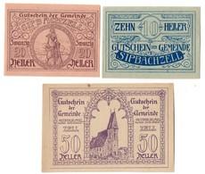 Austria Notgeld Lot / Set - SIPBACHZELL X 3 - Oesterreich