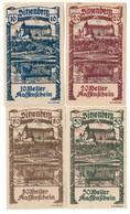 Austria Notgeld Lot / Set - SITZENBERG X 4 - Oesterreich