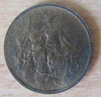 France - Monnaie 5 Centimes DUPUIS 1898 - SUP - France