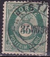 Norway 1893 POSTFRIM 35Ore Darkgreen 14½ : 13½ Michel 59 A - Noorwegen
