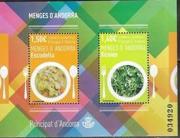SPANISH ANDORRA, 2019, MNH, CULTURE, FOOD, ANDORRAN DISHES, SHEETLET - Food